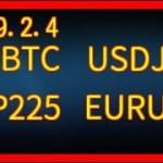 【チャンス通貨ペアはこれ!!!! 】 BTC ビットコイン ドル円 USDJPY 日経平均先物指数 JP225 ユーロドル EURUSD チャート 分析 2019.2.4