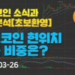 [Bitcoin] 비트코인 소식과 차트분석(초보환영) 9화 – 비트코인 현위치 현금 비중은?  – #비트코인 #알트코인 #가상화폐