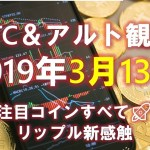 【XRP/BTC/YOYO/ARK/NEBL】リップルとビットコインたちはどうなる?3月13日の予想&ふり返り