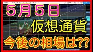 仮想通貨 ビットコイン ビットコインキャッシュ バイナンス  BTC BCH BNB 5月5日 相場予想 考察