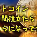 ■ビットコインを毎月1万円ずつ2年間積み立てたらどうなっていたか?(■ピックアップ■)