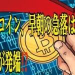 【仮想通貨】リップル最新情報❗️ビットコイン、今朝の急落はコインベースが発端⁉️