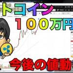 ビットコイン100万円突破!今後の値動きは?リップルも上昇するも今後も単独値動きは続く。