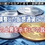 33%調整した仮想通貨ビットコイン、今後の上昇を示す3つの説とは?【仮想通貨・暗号資産】