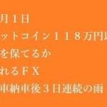 BTC118万円が分岐価格