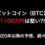 【仮想通貨】ビットコイン(BTC)1100万円は堅い!?価格上昇の要因(理由)と今後の予想について(最新情報)