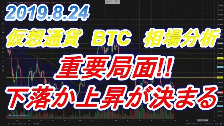 【仮想通貨】2019.8.24 ビットコイン 相場分析