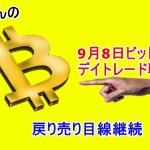 9月8日 仮想通貨ビットコインデイトレードテクニカル考察 「BTC暗号通貨」