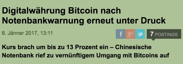Bitcoin Warnung