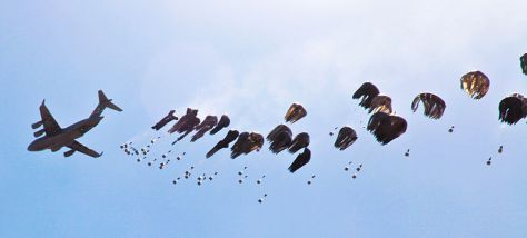Airdrop (Image: Spc G Hunt/Wikimedia)