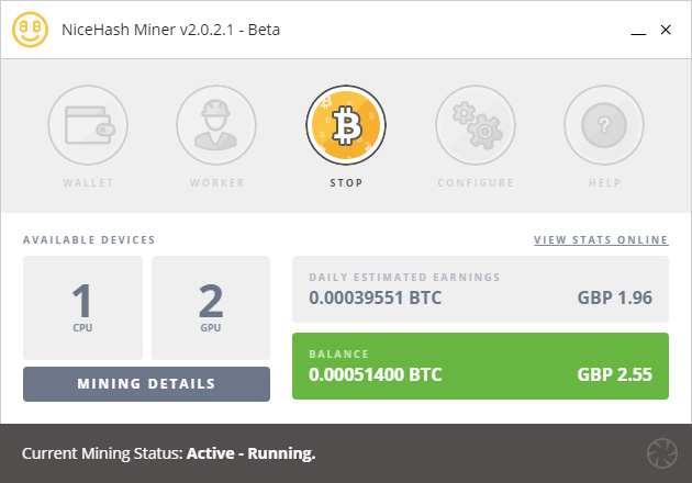 Nicehash Mining with The Beast April 2018 (Image: BIUK)