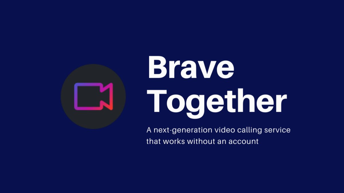 Brave web browser launches video calling app in test mode