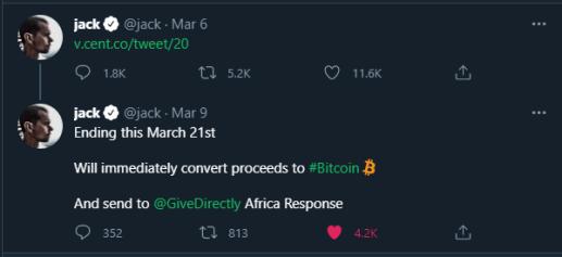 Jack Dorsey NFT Tweet