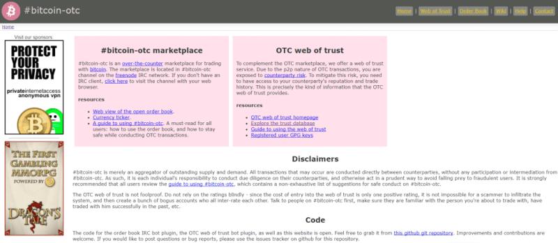 Bitcoin-OTC marketplace