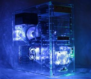 Rechner mit  ATI Grafikkarte Bitcoin Mining