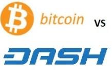 Bitcoin versus dash