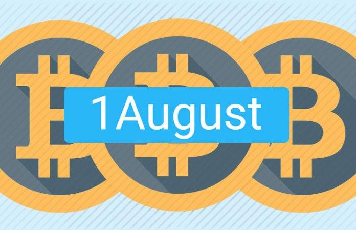 August 1 2017 Bitcoin Hard Fork
