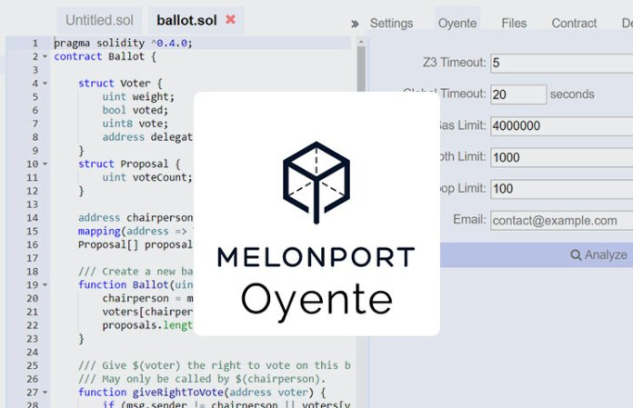 Melonport Oyente Smart Contracts