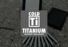 Titanium CryptoCurrency Seed Storage