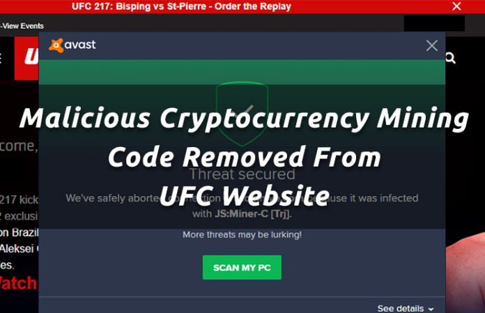 malicious-cryptocurrency-mining-code-removed-from-ufc-website