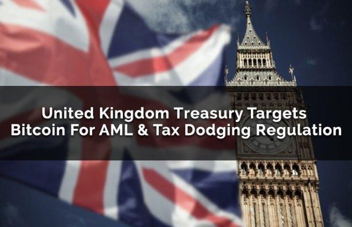 United Kingdom Treasury Targets Bitcoin For AML & Tax Dodging Regulation