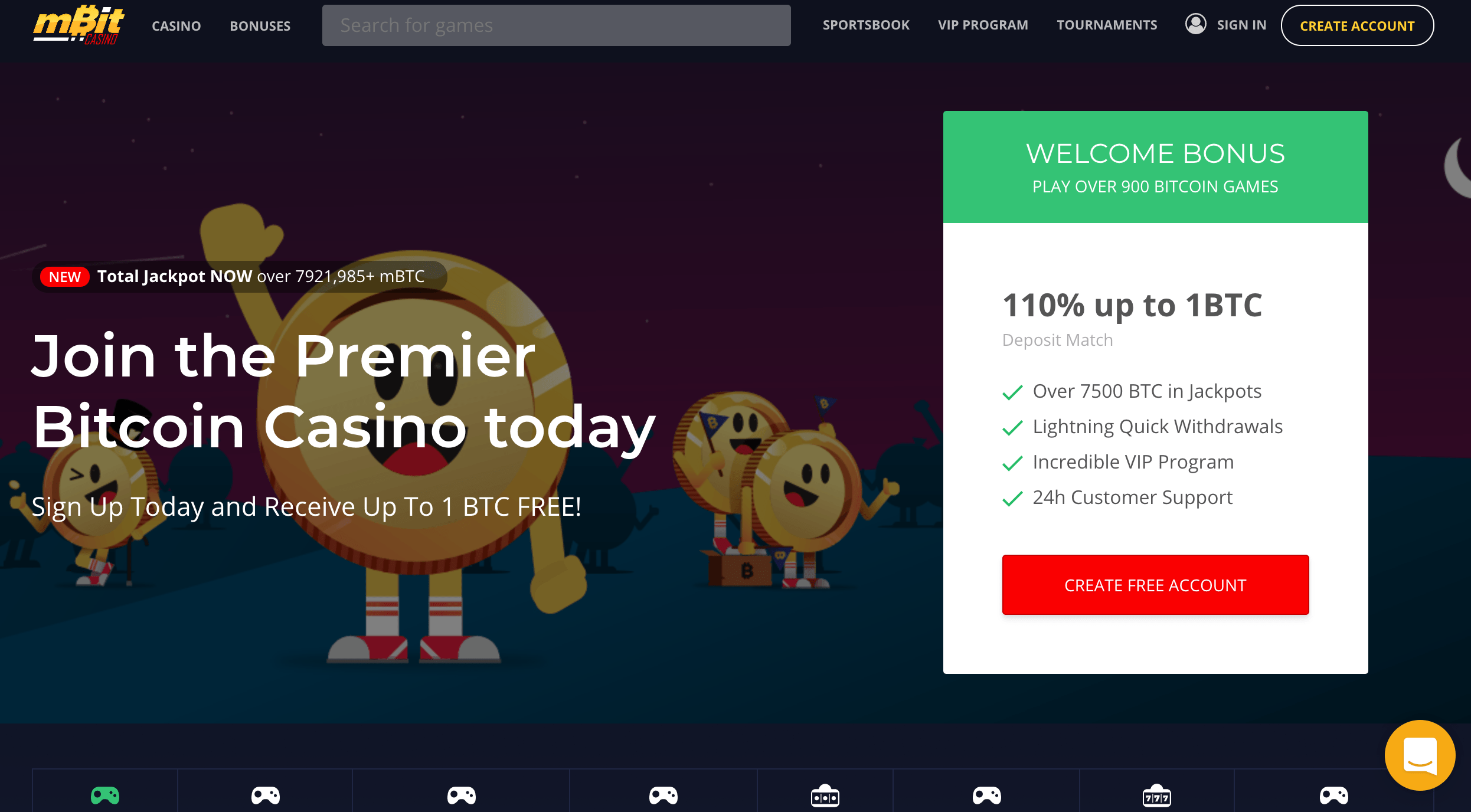 mBit Casino Bonuses & VIP Program