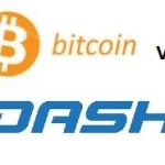 Bitcoin vs dash Handelsdiagramm
