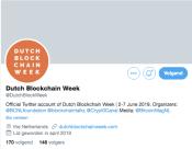 Dutch Blockchain week Twitter