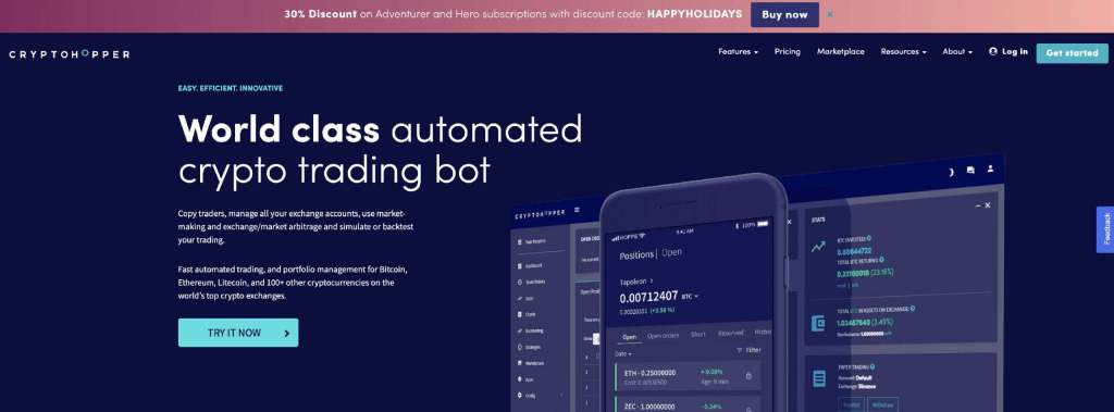 Cryptohopper website