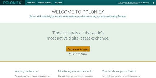 Poloniex altcoin exchange