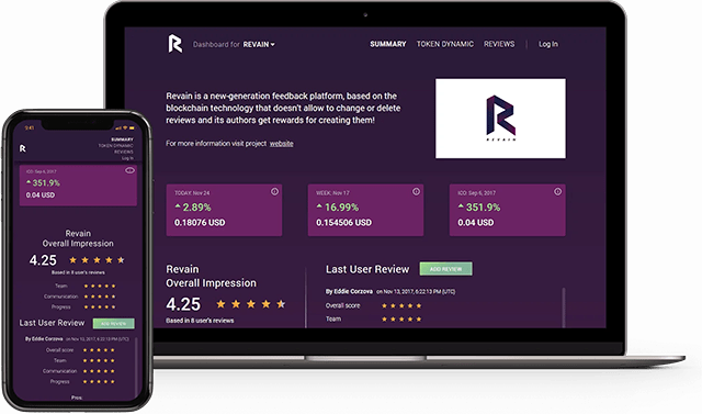 Revain Dashboard v0.4