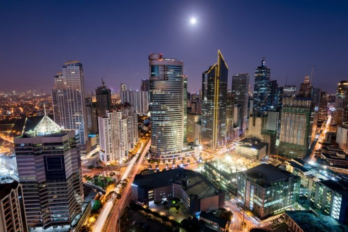 Manila at night.