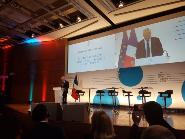 Bruno Le Maire Cryptocurrency Regulations Paris Blockchain Week Summit