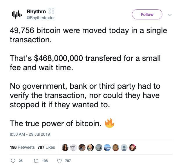 @Rhythmtrader from twitter tweeted about bitcoin whale
