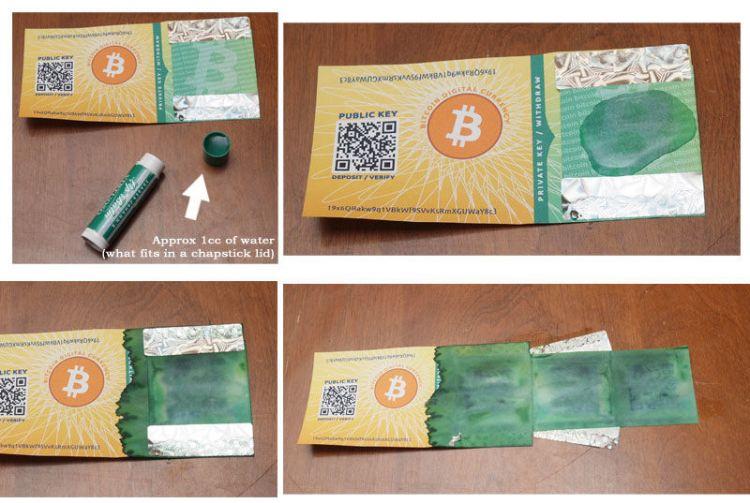 Bitcoin Kağıt Cüzdan