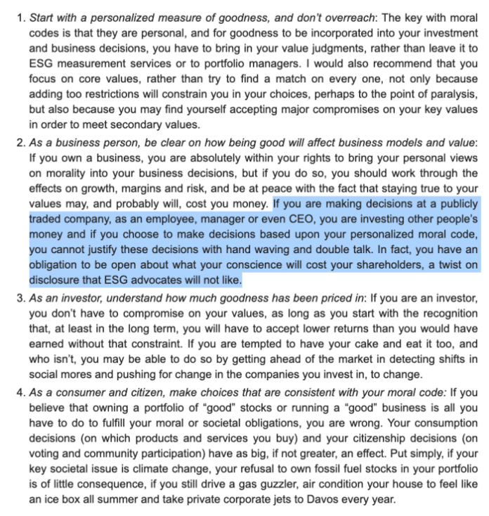 about Aswath Damodaran's thoughts on markets