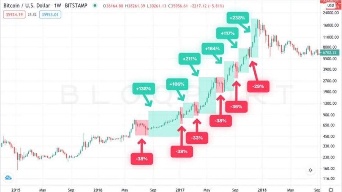 Bloqport Bitcoin 2017 bull run dips and rises