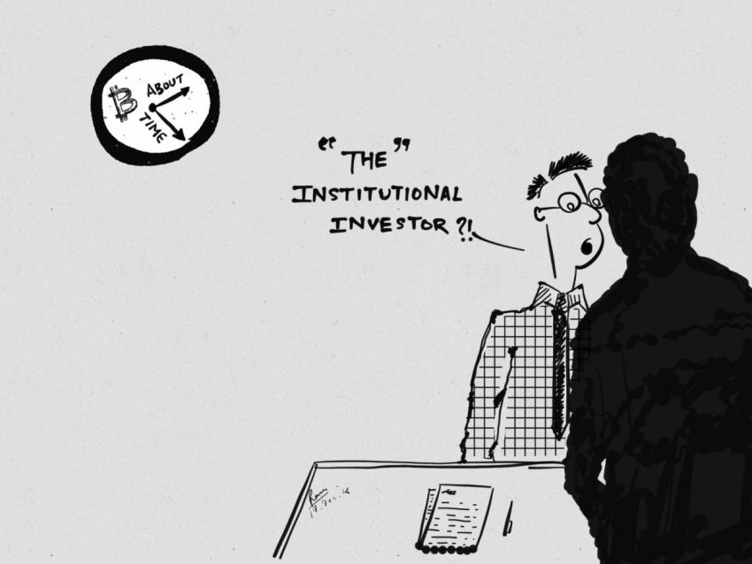 institutional investors in crypto cartoon bitcoinnews