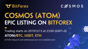 COSMOS Lists on BitForex with Extra User Benefits