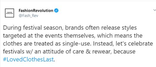 Fashion Revolution Week, 2019. #LovedClothesLast