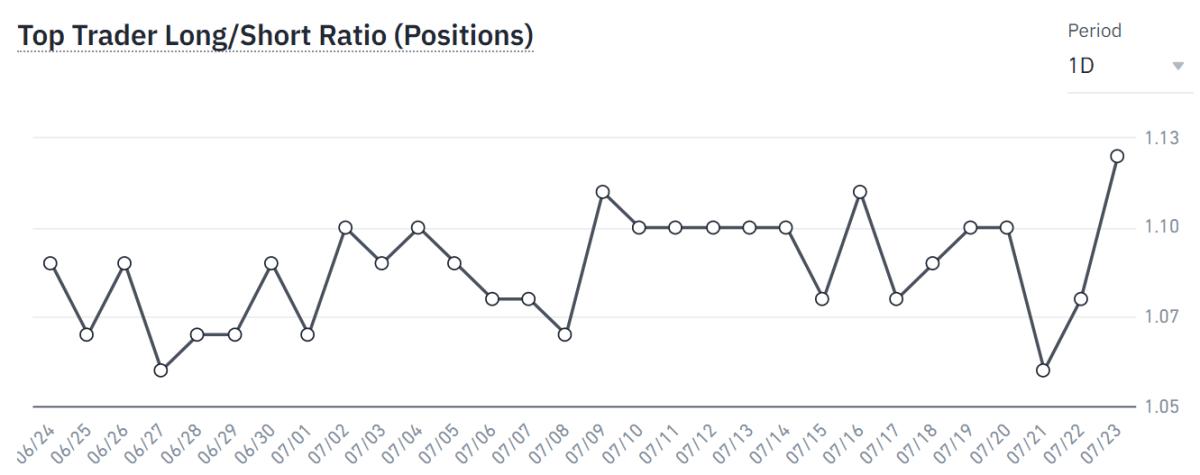 Binance top traders long/short ratio