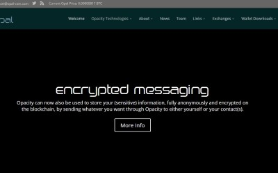 Bitcoin Alternative Opal Announces Opal Drive Encrypted File Storage Powered by Cryptocurrency