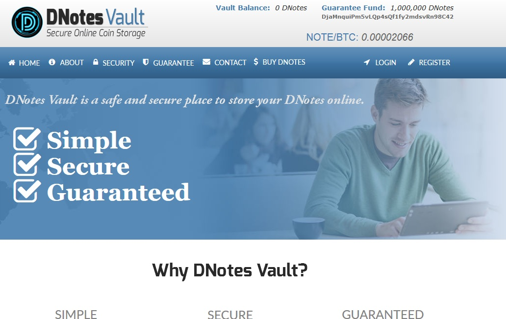 Stable Bitcoin Alternative DNotes Launches DNotesVault With Unprecedented Cryptocurrency Deposit Guarantee