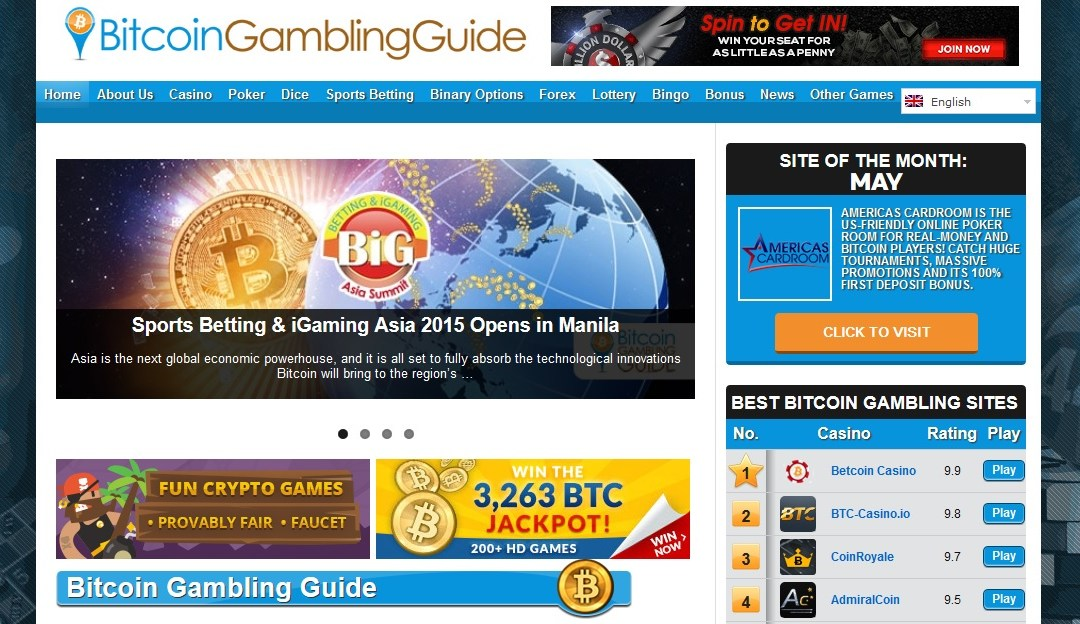 'Bitcoin Gambling Guide' Pushes Ahead With Over 400 Bitcoin Gambling Platform Reviews