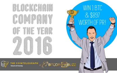 """Bitcoin PR Buzz Announces """"Blockchain Company of the Year"""" Contest in Partnership with Cointelegraph"""