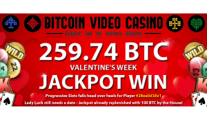 Bitcoin PR Buzz Bitcoin Video Casino Jackpot