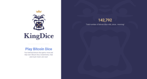 Bitcoin PR Buzz KingDice Bitcoin Dice Game