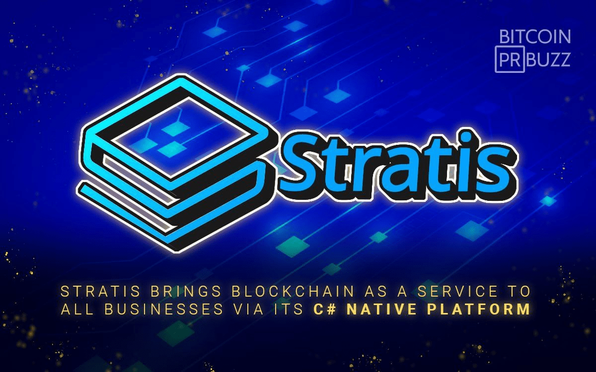 Stratis Brings Blockchain as a Service to All Businesses via its C# Native Pl...