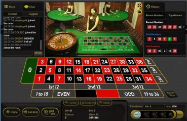 Play roulette with a live croupier