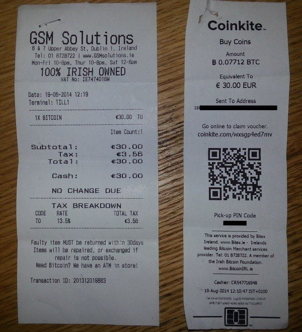 bitcoin atm reciept